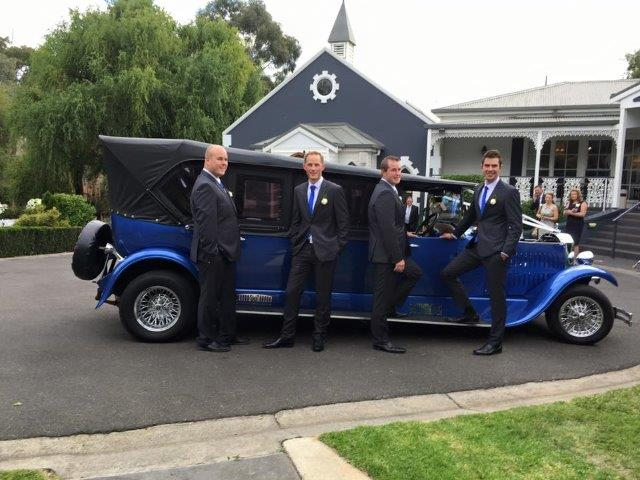 Blue Moon Rods at Ballara Receptions - Wedding Hot Rod Hire Melbourne